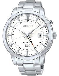 Seiko De los hombres KINETIC GMT Analógico Vestido Kinetic Reloj NWT SUN029P1