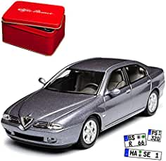 Alfa Romeo 166 Limousine Blau Grau Limousine 1998-2007 1//43 Solido Modell Auto..