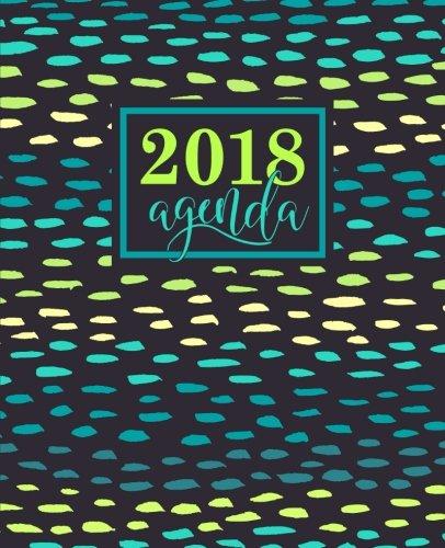 Agenda: 2018 Agenda semana vista español : 190 x 235 mm, 160 g/m² : Moderno estampado en verde azulado, amarillo y turquesa (Calendarios, agendas y organizadores personales, Band 7)