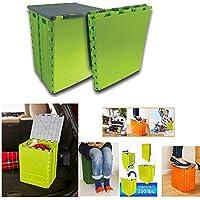 Taburete caja plegable almacenaje silla camping cajon escalera baul juguetes casa jardin pesca