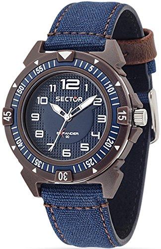 Reloj Sector Expander azul 40 mm R3251197136 tiempo sólo 90 hombre