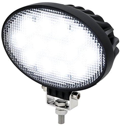 AdLuminis LED Arbeitsscheinwerfer Oval 39 Watt 3120 Lumen, CREE Chips, 60°, Für 12V 24V, IP67 Schutzklasse, 6000K, Zusatzscheinwerfer, Rückfahrscheinwerfer, Suchscheinwerfer, Arbeitsleuchte Oval-chip