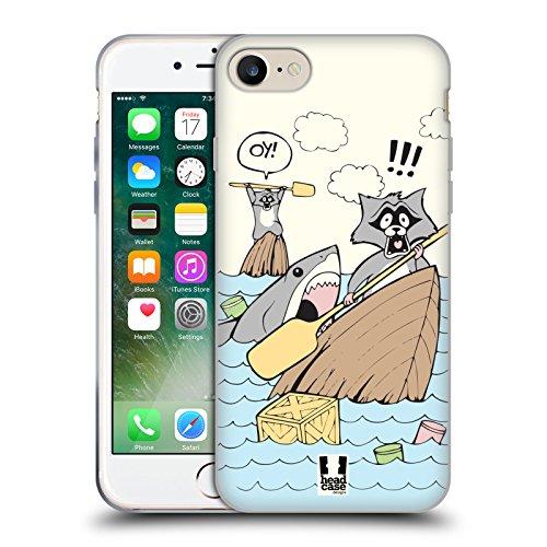 Head Case Designs Chat En Voyage Voyageur Mondial Étui Coque en Gel molle pour Apple iPhone 6 / 6s Amorce Pour Requin
