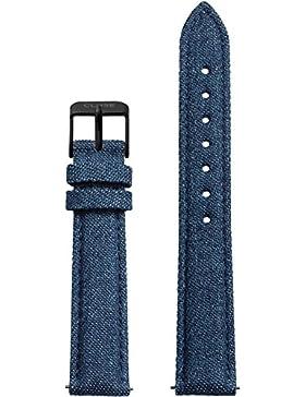Cluse Damen Uhrenarmband Minuit Leder Blau CLS353