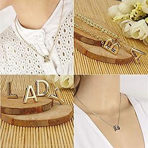 XUHAHAXL Halskette/Fashion Persönlichkeit, Englische Buchstaben, Kurze Buchstaben, 26 Buchstaben, Kurze Halskette.
