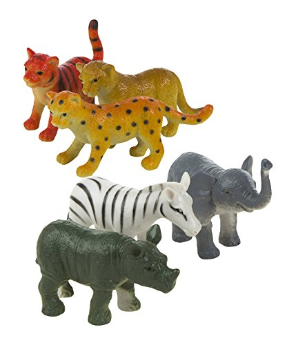 ColorBaby - Bag with 6 Animals of the Jungle, 18 X 24 cm (24352)