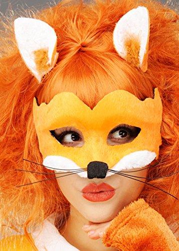 Frau Fox Mask und Clip On Fox Ohren