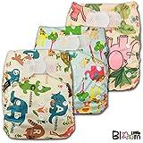 LittleBloom Bebé Pañales Lavables Pañal Reutilizable Insertos, Cierre: Hook-Loop, Set De 3
