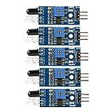 Xinrub IR Sensori a Modulo Evitamento Ostacoli ad Infrarossi, 3 Fili Sensore di Distanza a Infrarossi e Modulo Luminoso - 5pz