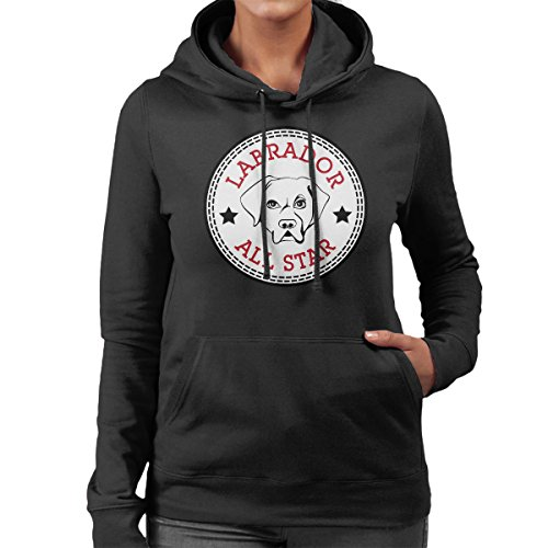 Labrador All Star Converse Logo Women's Hooded Sweatshirt (All-star-spiel-logo)