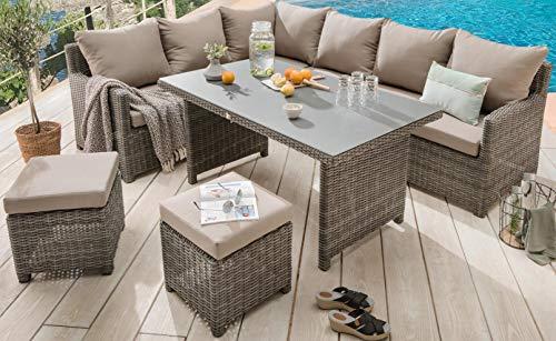 Destiny Loungegruppe Bergamo Eckgruppe mixed grey Lounge Garnitur Dininglounge