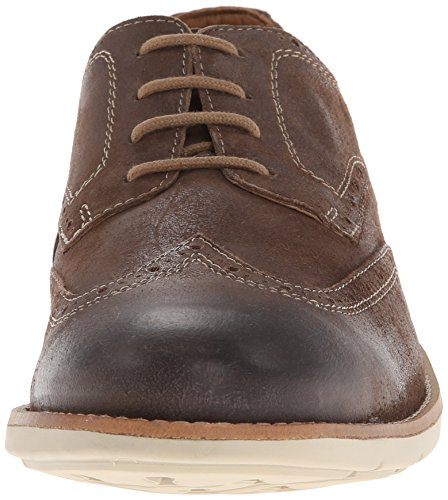 Clarks Raspin Brogue Oxford Taupe Suede