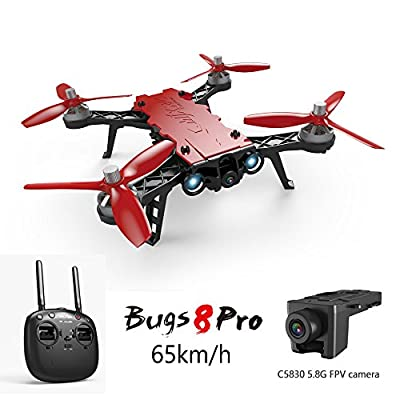 Koeoep Bugs 8 Pro RC Quadcopter 5.8G FPV Drone High Speed Racing Helicopter 6-Axis Gyro Aircraft from Bugs 8 Pro