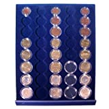 SAFE MÜNZBOX NOVA Nr. 6339 - 5 x EUROMÜNZEN KURSMÜNZENSÄTZE IN MÜNZKAPSELN 1 , 2, 5, 10, 20, 50 CENT UND 1, 2 EURO MÜNZEN - RUNDE FÄCHER FÜR KOMPLETTE KMS IN CAPS - Münzenboxen - Münzboxen - Münzelemente