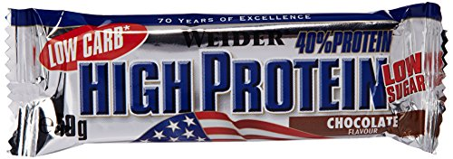 Weider 40% Protein Low Carb Barre Chocolat 24 x 50 gm