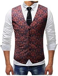 it giacche Uomo fiori e Abbigliamento Amazon Abiti Rosso HxwZdqqz