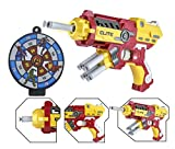 #9: Wishkey Super Hero Iron Man Character Soft Suction Bullet Blaster Gun Toy with 6 Foam Bullets,Target Board Shooting Game for Kids