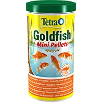 Tetra Pond Goldfish Mini Pellet Food, Complete Fish Food for All Goldfish, 1 Litre