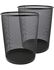 Greenco Mesh Wastebasket, Round, 6 Gallon, (3 Pack)