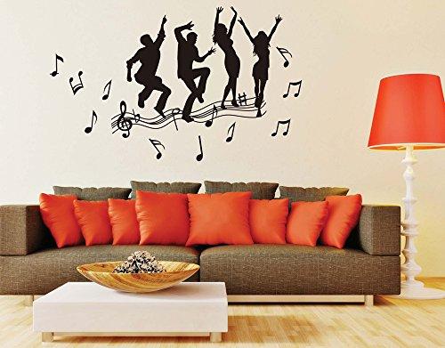Ufengke® ascoltare musica ragazzi e le ragazze di danza adesivi murali, camera da letto soggiorno adesivi da parete removibili/stickers murali/decorazione murale