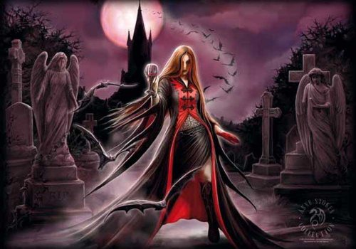 Anne Stokes - Blood Moon - Posterflagge 100% Polyester - 110x75 cm
