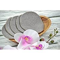 Kosmetikpads aus Bio-Baumwolle, 5 Stück, Abschminkpad, Babypflege, Familie, Baby, Kinder, braun, dunkelbraun, graubraun, ganz weich, flauschig, einlagig