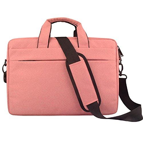 Easy Go Shopping Laptop Crossbody Aktentasche Messenger Einkaufstasche Casual Handtasche für Notebook Tablet Acer HP Dell Lenovo (Farbe : Rosa, Größe : 14inch) -