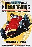 Nürburgring Grosser Preis 1957 grand prix autorennen schild aus blech, metal sign, tin sign
