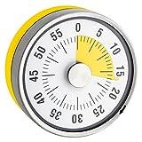 TimeTex Zeitdauer-Uhr Automatik Compact - gelbe Scheibe - mit Magnet - zeigt Restzeit an - Durchmesser 78 mm - läuft ohne Batterien - 61968