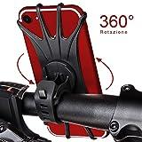 StillCool Supporto Bici Smartphone, Ruotabile a 360 gradi, Supporto per Manubrio Bicicletta Universale, per dispositivi da 4-6,5 pollici (Nero)