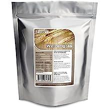 Nurafit reines Weizengras-Pulver | Weizengras aus jungen Blättern | zertifizierte Spitzenqualität |100% vegan| 100% glutenfrei | Weizenpulver ohne Zusatzstoffe | Entschlackend, Entgiftend, Belebend | 1000g / 1kg
