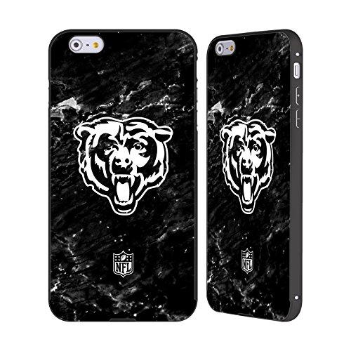 Ufficiale NFL Righe 2017/18 Chicago Bears Nero Cover Contorno con Bumper in Alluminio per Apple iPhone 5 / 5s / SE Marmo