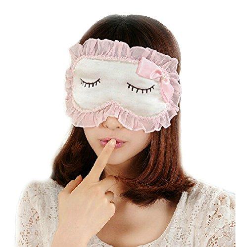 Double soie cache oeil / Mou cache oeil pour dormir, Rose et Blanc