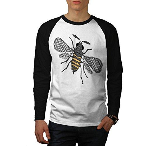 insecte-monde-art-plusieurs-abeille-homme-nouveau-blanc-avec-manches-noires-l-base-ball-manche-longu