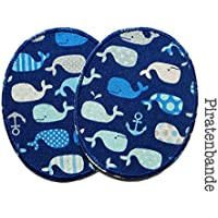 Set 2 Knieflicken Wale Flicken zum Aufbügeln für Kinder