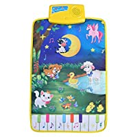 Zerodis Baby Musical Dance Mat Children Crawling Piano Carpet Educational Musical Toy Activity Gym Blanket Learn Singing Funny Toy Gift for Kids Toddlers