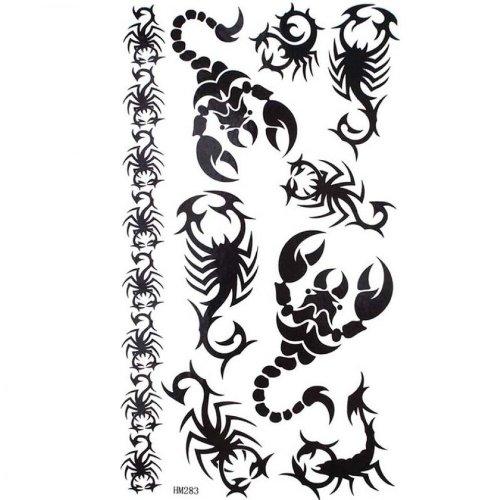 Totem noir scorpion sexy étanches faux tatouages