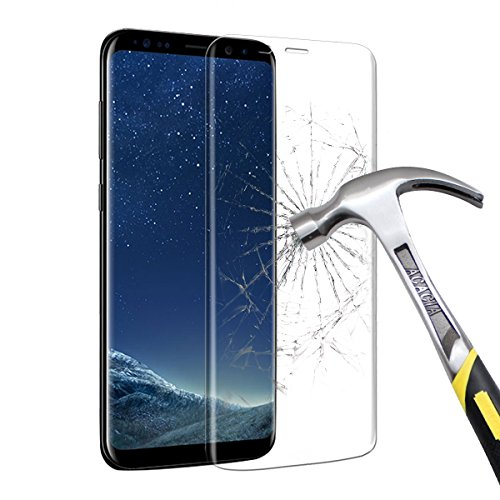 Price comparison product image Samsung Galaxy S8 Plus Screen Protector,  Vitutech Galaxy S8 Plus Tempered Glass Screen Protector Full Coverage 3D Curved for Galaxy S8 Plus 9H Hardness Guard Film Protector Film--Transparent