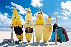 Soleil, Mer et Surf Poster Maxi, multicolore