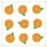 Paperproducts Design Design Fashion Allover Getränke Servietten, 12,7x 12,7cm orange