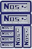 NOS N.O.S. Lachgas grau Sticker Aufkleber Folie 1 Blatt 270 mm x 180 mm wetterfest