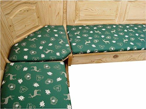 generisch Eckbank-Auflagen, Bank-Polster, Hüttenstil grün (120x40cm)