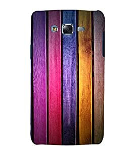printtech Wooden Colored Pattern Back Case Cover for Samsung Galaxy A8 / Samsung Galaxy A8 A800F