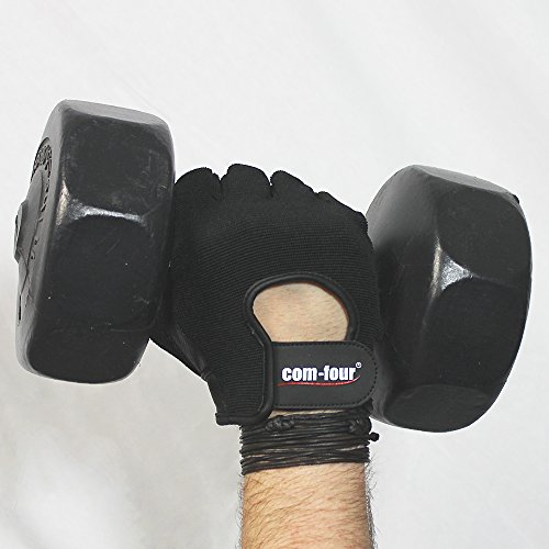Wilhelm Sell® Fitness-Sport-Handschuhe aus Leder für Krafttraining und Bodybuilding mit Handgelenk-Umwicklung