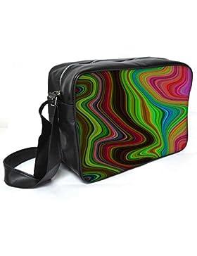 Snoogg Lava Bewegung 2396Leder Unisex Messenger Bag für College Schule täglichen Gebrauch Tasche Material PU