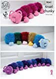 King Cole Tinsel Chunky Knitting Pattern for Caterpillar Toy Doorstop Draught Excluder (9041)