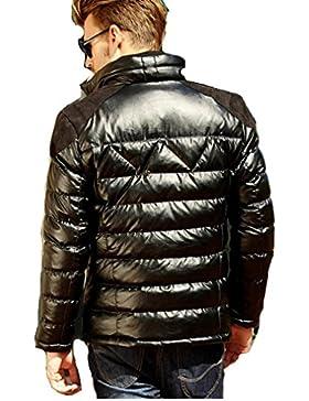 MHGAO Nuevo para la camisa de otoño / invierno de los hombres de Down Jacket , black , l