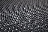 Sellon24 Polyrattan Balkonverkleidung Sichtschutz Balkonsichtschutz anthrazit braun weiß schwarz Kupfer grün Meterware Balkonbespannung 17,49€ / Quadratmeter (H 90cm, RD03 - anthrazit)