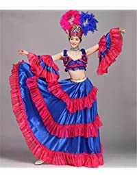 peiwen Traje de Rendimiento de Baile de Etapa de la Mujer Toro de Falda  Grande 2d98047ea492