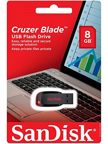 SanDisk Cruzer Blade USB 2.0 8GB Pen Drive (Black)